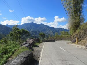 Road in the beautiful Cordillera Mountains